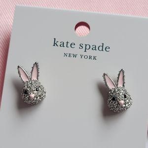kate spade Make Magic Bunny Rabbit Stud Earrings